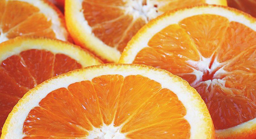 Image d'orange tranchées